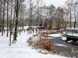 Wintery scene outside 'Woodview'